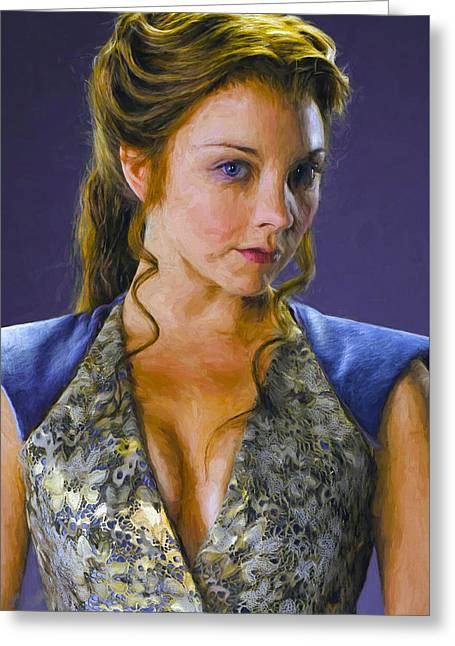 Creative People Greeting Cards - Margaery Tyrell - Game Of Thrones Greeting Card by Nikola Durdevic