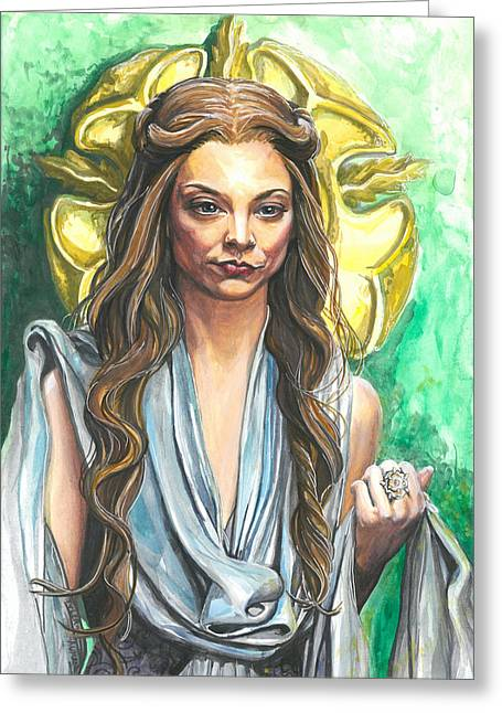 The North Greeting Cards - Margaery Tyrell Greeting Card by Tyler Auman