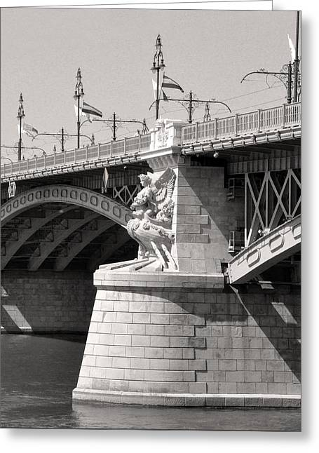 Belles Sculptures Greeting Cards - Margaret Bridge Budapest Greeting Card by James Dougherty