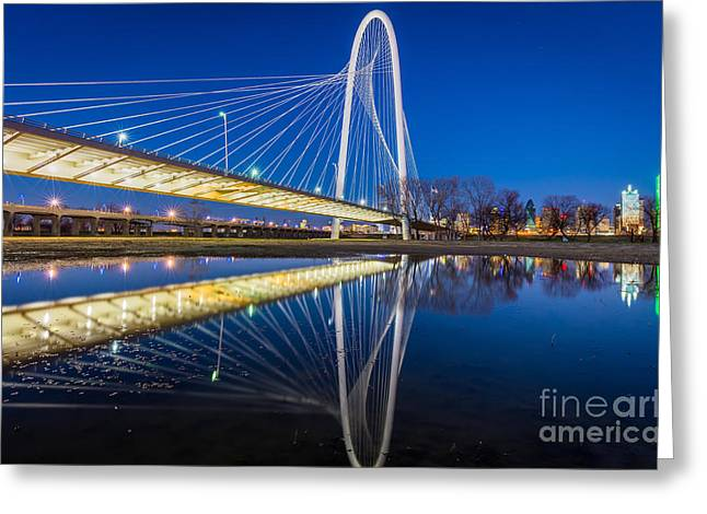Margaret Hunt Hill Bridge Reflection Greeting Card by Inge Johnsson
