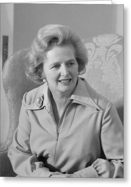 Conservatives Greeting Cards - Margaret Thatcher Greeting Card by War Is Hell Store