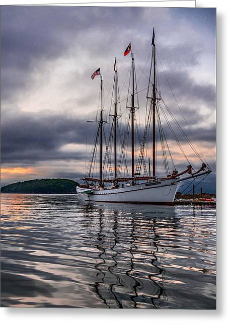 Sailboat Photos Greeting Cards - Margaret Todd Greeting Card by Steven Maxx