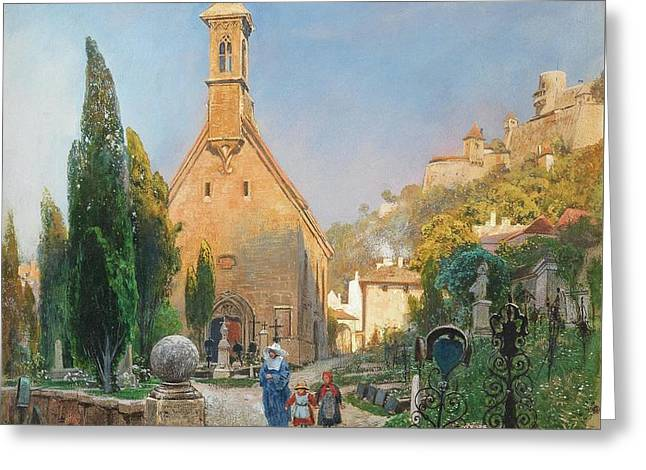 Margarets Chapel In St Peters Cemetery Greeting Card by MotionAge Designs
