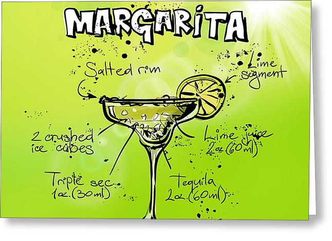 Margarita Cocktail Greeting Card by Spencer McKain
