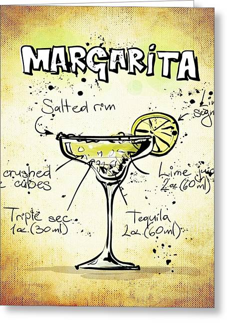 Gathering Mixed Media Greeting Cards - Margarita Greeting Card by Movie Poster Prints
