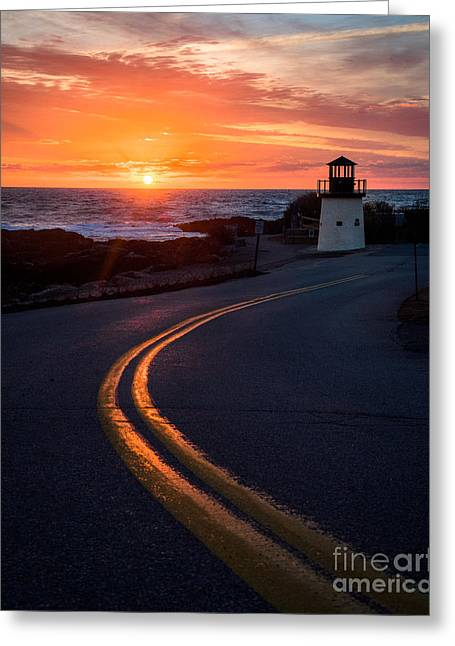 Marginal Way Ogunquit Sunrise Greeting Card by Benjamin Williamson