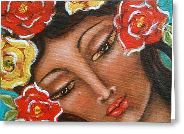 The Sacred Feminine Greeting Cards - Maria Elena Greeting Card by Maya Telford