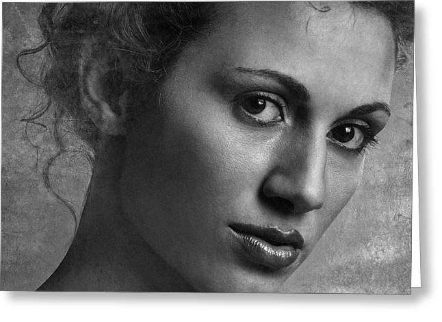 Portrait Greeting Cards - Maria Greeting Card by Fulvio Pellegrini
