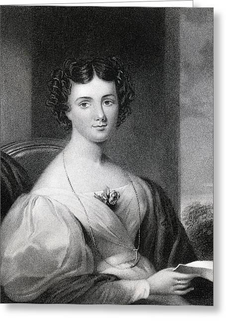 Engraving Greeting Cards - Maria Jane Jewsbury Mrs Fletcher Greeting Card by Vintage Design Pics