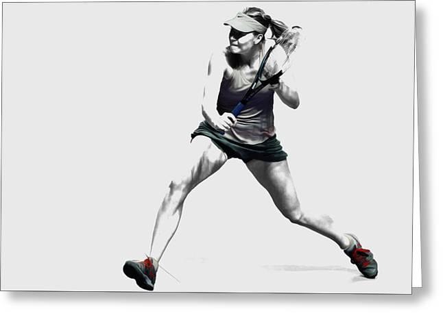 Maria Sharapova 3y Greeting Card by Brian Reaves