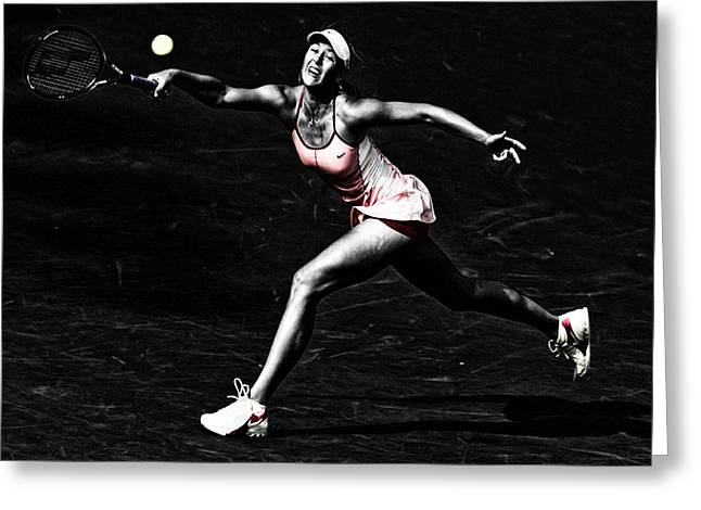 Maria Sharapova Extended Greeting Card by Brian Reaves