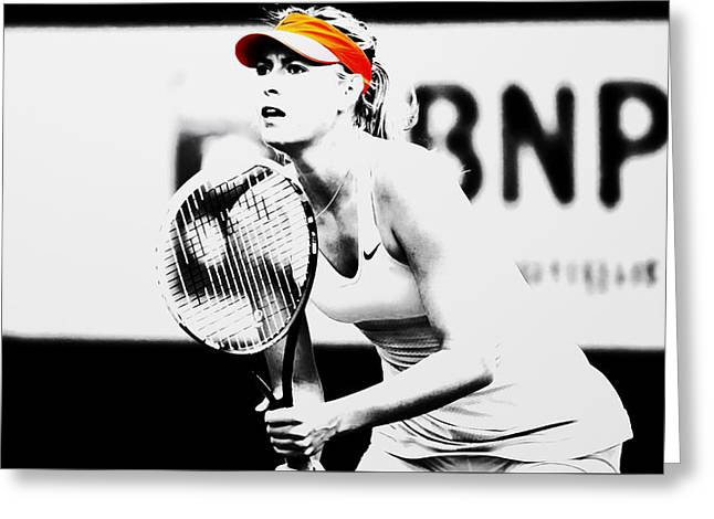 Maria Sharapova Stay Focused 2 Greeting Card by Brian Reaves