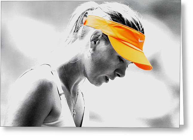 Maria Sharapova Stay Focused Greeting Card by Brian Reaves
