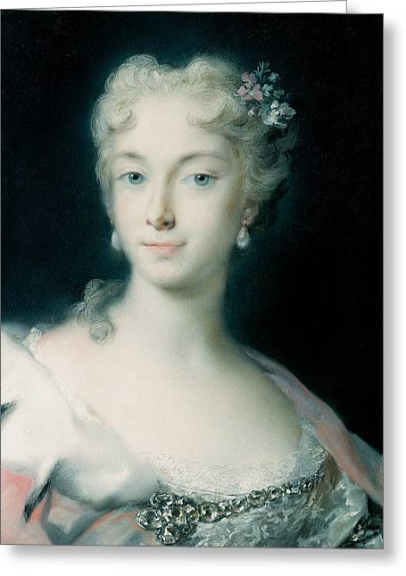 Maria Theresa, Archduchess Of Habsburg Greeting Card by Rosalba Carriera