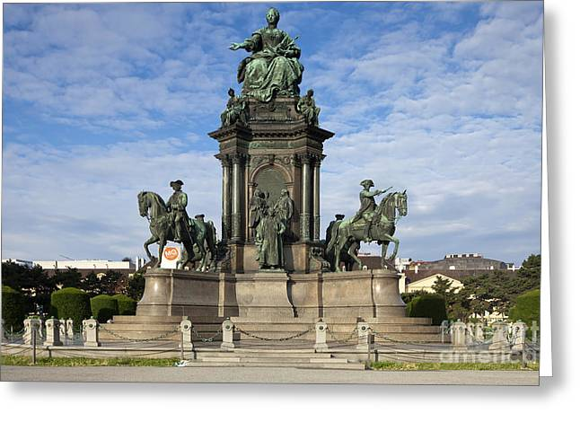 Wien Greeting Cards - Maria Theresia Statue Greeting Card by Andre Goncalves