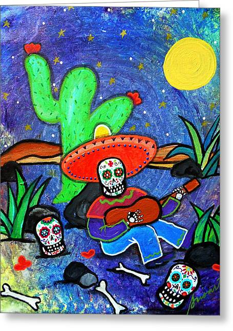 Mariachi Siesta Greeting Card by Pristine Cartera Turkus