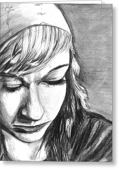 Daughter Gift Greeting Cards - Mariah Pencil Greeting Card by Demian Legg