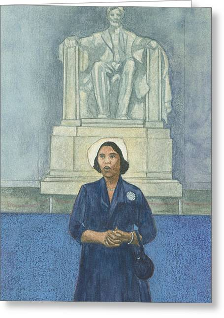 Washington D.c. Pastels Greeting Cards - Marian Anderson Greeting Card by Robert Casilla