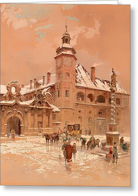 Religious Artwork Paintings Greeting Cards - Maribor Greeting Card by Adolf Wagner