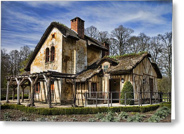 Chateau Greeting Cards - Marie Antoinette Cottage in Versailles Greeting Card by David Smith