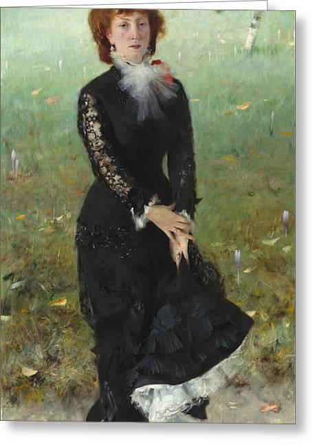 Marie Buloz Pailleron Greeting Card by John Singer Sargent