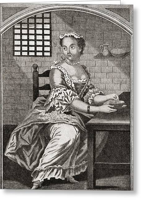 Marie Catherine Taperet 1728 - 1755 Greeting Card by Vintage Design Pics