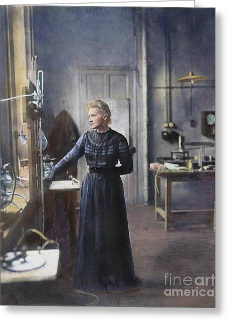 Marie Curie (1867-1934) Greeting Card by Granger