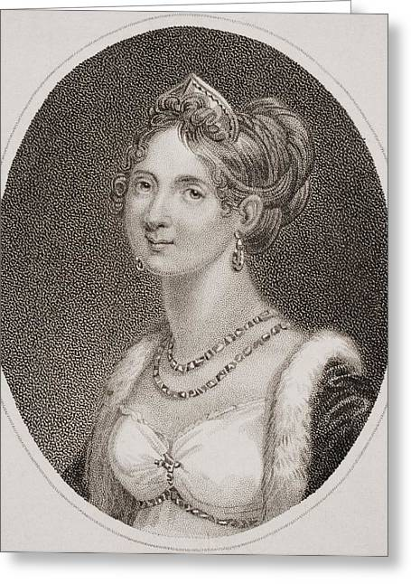 Marie-louise Greeting Cards - Marie Louise, Empress Of The French Greeting Card by Vintage Design Pics
