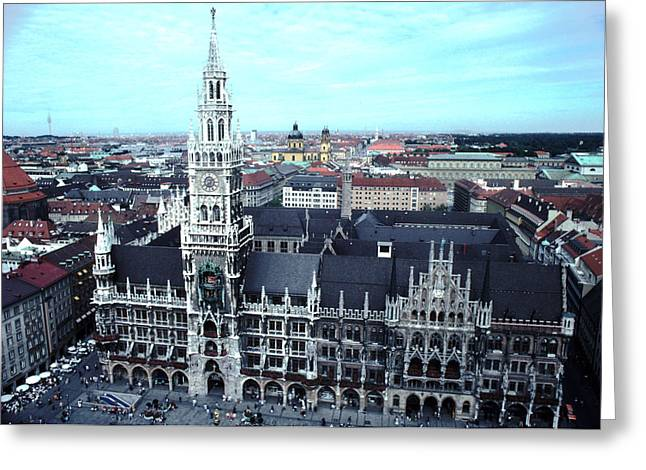Marienplatz Greeting Cards - Marienplatz  City Hall Munich Greeting Card by Tom Wurl