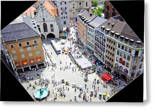 Marienplatz Greeting Cards - Marienplatz Munich Greeting Card by Kevin Smith