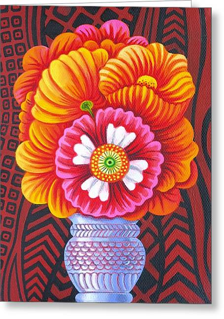 Tasteful Art Greeting Cards - Marigolds Greeting Card by Jane Tattersfield