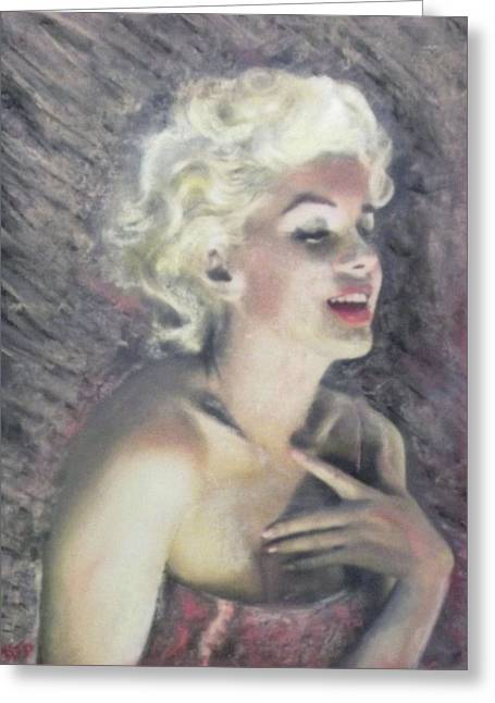 Movie Star Pastels Greeting Cards - Marilyn and the Joy of Chanel Greeting Card by Richard James Digance