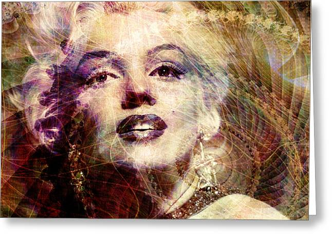 Marilyn Greeting Card by Barbara Berney
