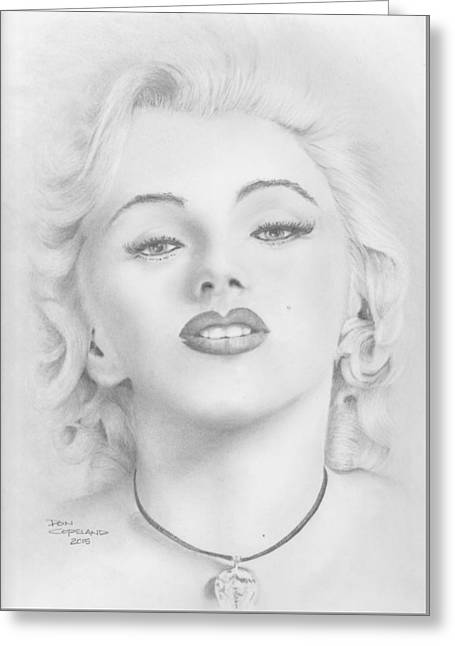Starlet Drawings Greeting Cards - Marilyn Greeting Card by Don Copeland