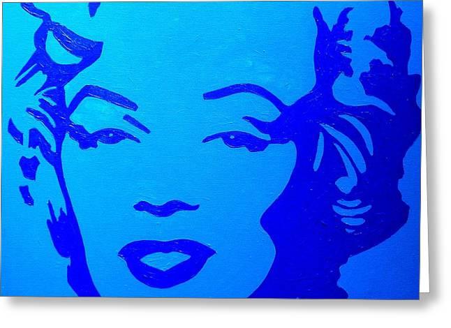 Warhol Paintings Greeting Cards - Marilyn Greeting Card by John  Nolan