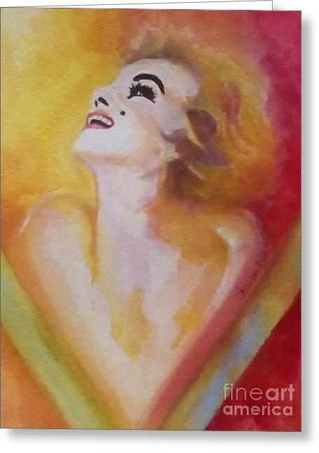 Nude Monroe Greeting Cards - Marilyn Monroe 05 Greeting Card by Chrisann Ellis