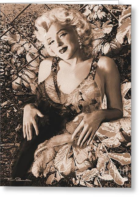 Marilyn Monroe 126 A 'sepia' Greeting Card by Theo Danella