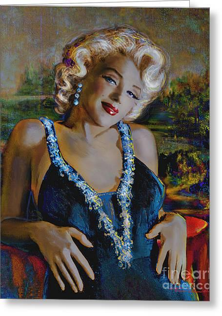 Marilyn Monroe 126 Monalisa Greeting Card by Theo Danella
