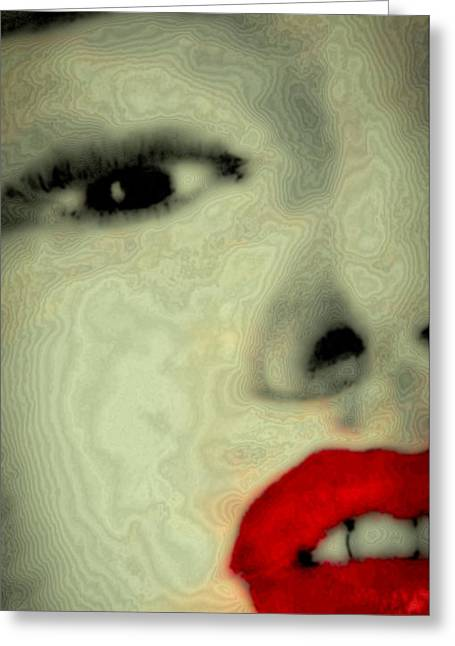 Norma Jean Mixed Media Greeting Cards - Marilyn Monroe 6 Greeting Card by David Patterson