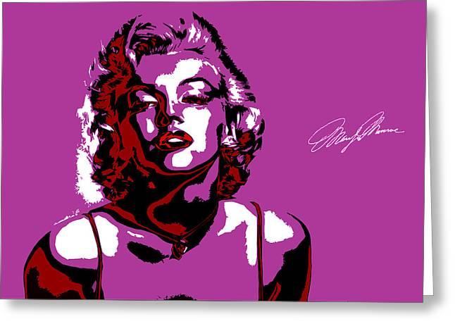 Pop Singer Greeting Cards - Marilyn Monroe Greeting Card by Alexey Bazhan