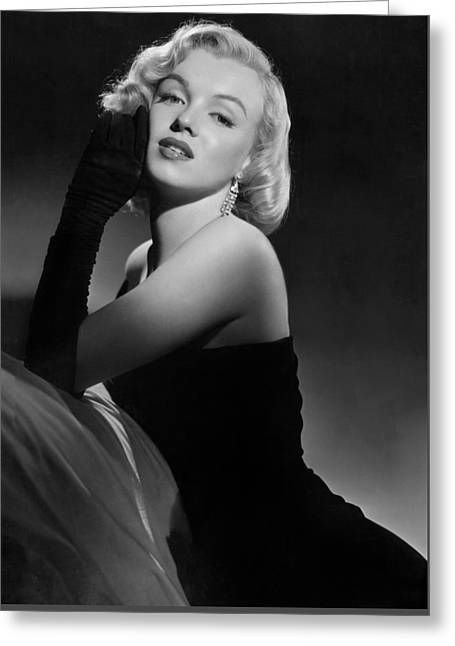 Celebrities Photographs Greeting Cards - Marilyn Monroe Greeting Card by American School