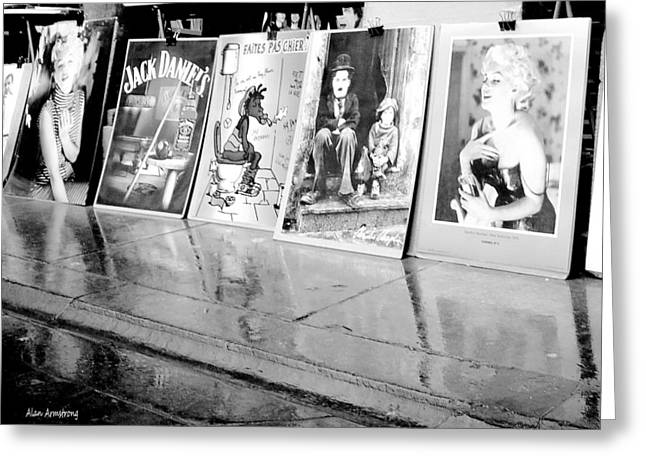 Charlie Chaplin Poster Greeting Cards - Marilyn Monroe And Charlie Chaplin Posters Greeting Card by Alan Armstrong