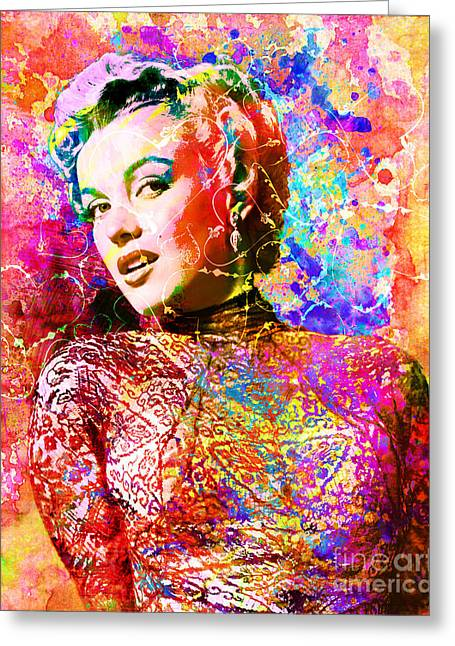 Norma Jean Greeting Cards - Marilyn Monroe Art  Greeting Card by Ryan RockChromatic