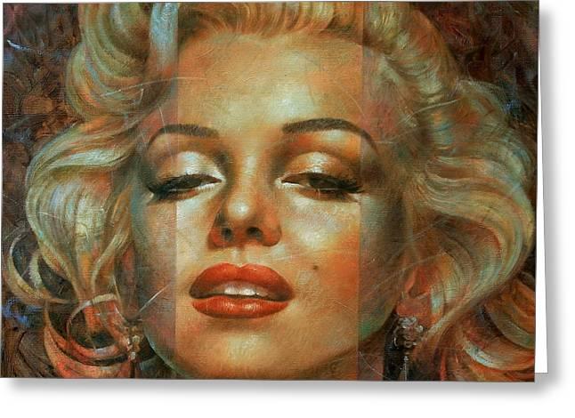 Marilyn Monroe Greeting Card by Arthur Braginsky