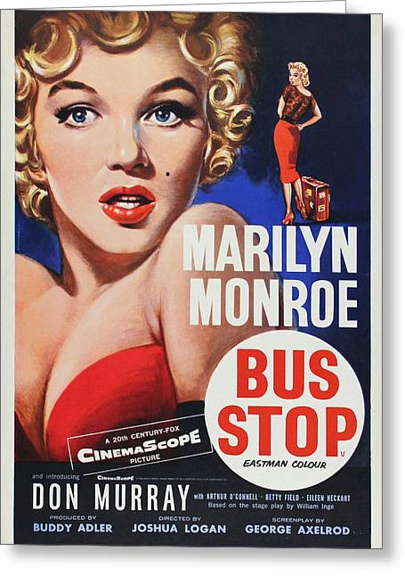 Bus Stop Greeting Cards - Marilyn Monroe - Bus Stop Greeting Card by Nomad Art And  Design