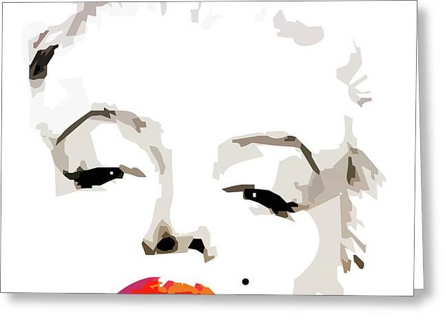 Modern Digital Art Digital Art Drawings Greeting Cards - Marilyn Monroe By Quim Abella Greeting Card by Joaquin Abella