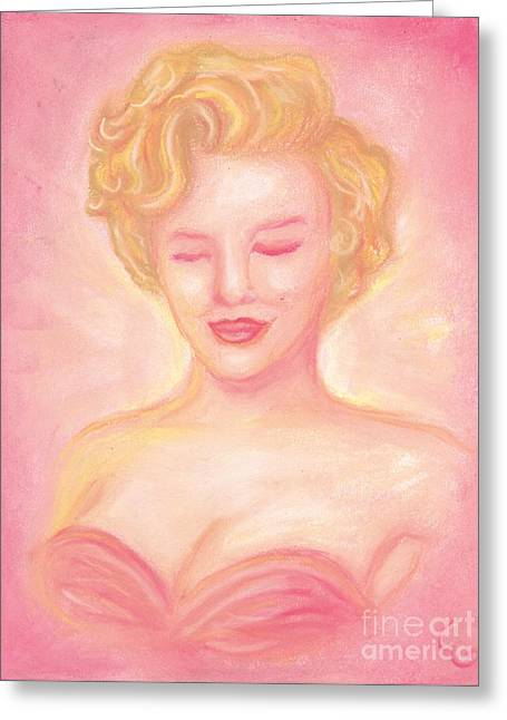 Classic Hollywood Pastels Greeting Cards - Marilyn Monroe Greeting Card by Cassandra Geernaert