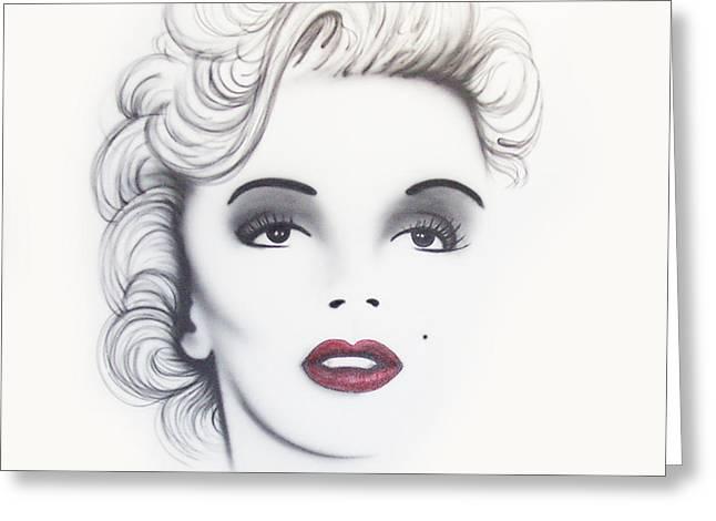 Marilyn Monroe Greeting Card by Devaron Jeffery