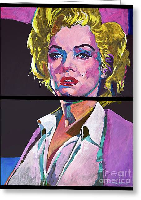 Most Greeting Cards - Marilyn Monroe Dyptich Greeting Card by David Lloyd Glover
