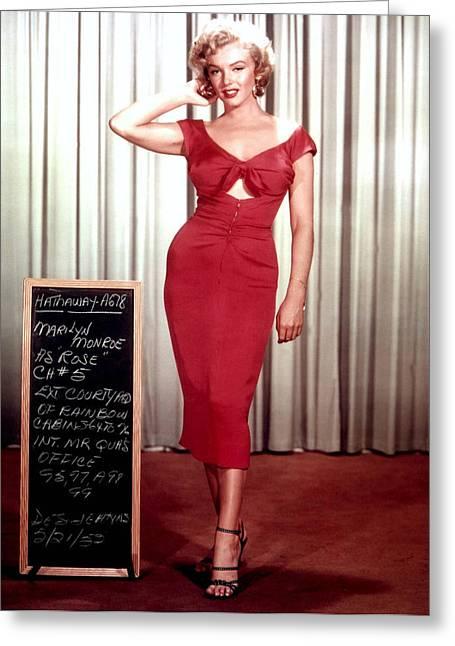Marilyn Monroe In Gentlemen Prefer Blondes Greeting Card by Georgia Fowler
